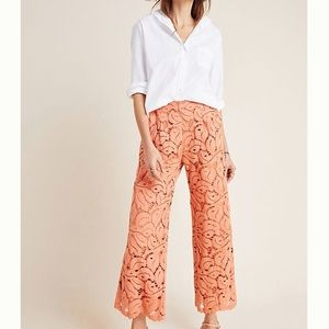 NWT Anthro Dolly lace wide leg crops